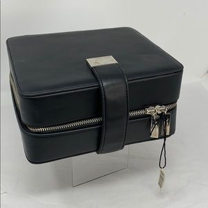 Jo Malone Black Leather Zip Around Travel Case